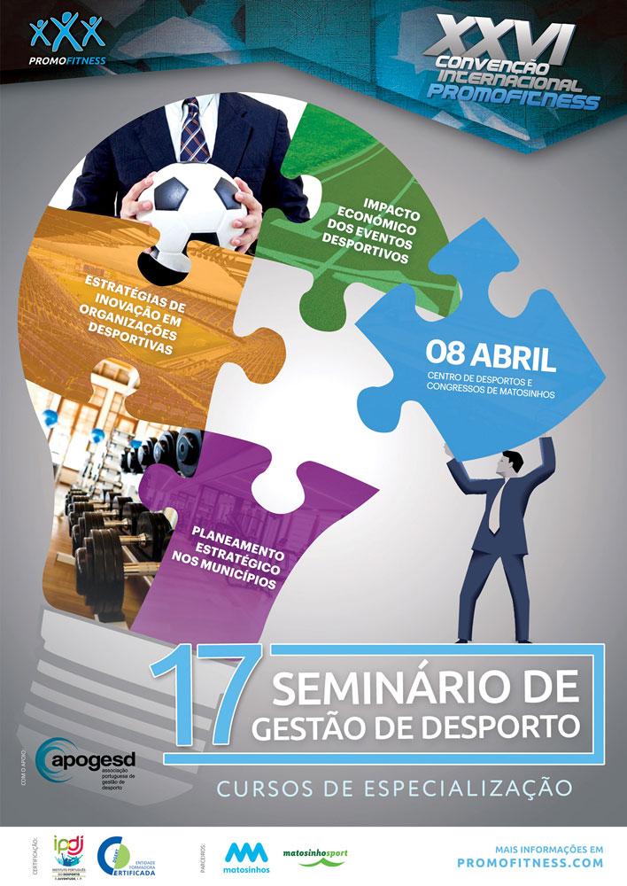 17 Seminário de Gestão de desporto cartaz